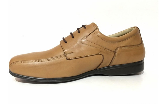 Zapato Zapatilla De Vestir Cuero Cordón O Elástico Hombre