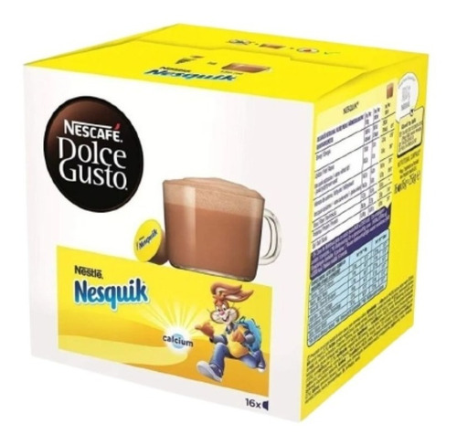 Imagen 1 de 10 de Capsulas Dolce Gusto Nescafe Nesquik 256g X16 Unid