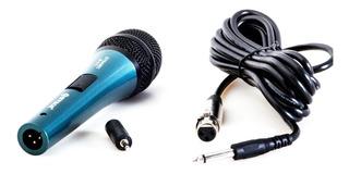 Microfono Unidireccional Wvngr Karaoke Cable Dynamic