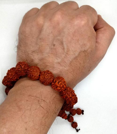 Pulseira Rudraksha Grande Semente 18mm - Ajustável