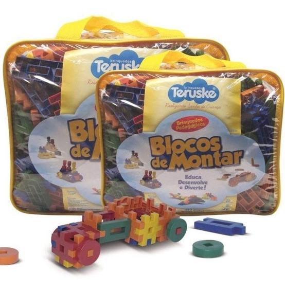 Blocos Montar Formando Idéias Brinquedos Pedagógicos 500 Pçs