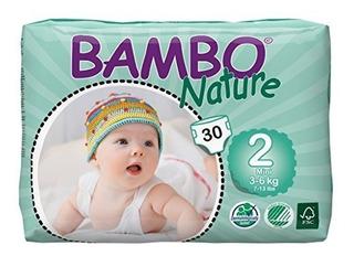 Pañales Desechables,pañales Para Bebés Premium Bambo Nat..
