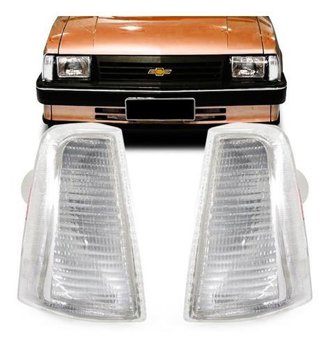 Imagem 1 de 4 de Par Pisca Chevy Chevette Marajo 83 84 A 93 Dianteira Cristal