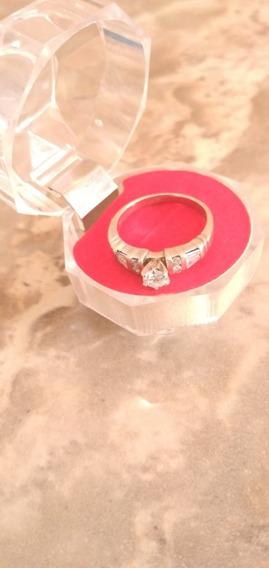 Anillo Compromiso 14 Kt C/diamantes 25 Puntos Solitario