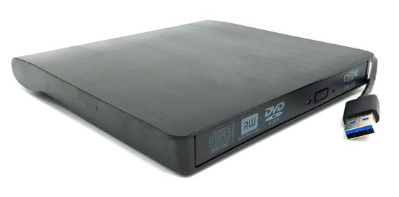 Gravador E Leitor Dvd/cd Externo Slim Usb 3.0 Portátil