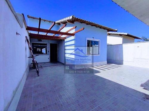 Casa Com 3 Dormitórios À Venda, 107 M² Por R$ 420.000,00 - Barroco (itaipuaçu) - Maricá/rj - Ca0924
