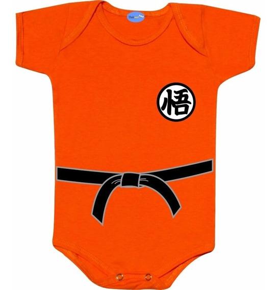 Roupa De Bebê Goku Body Divertido Personagem Goku