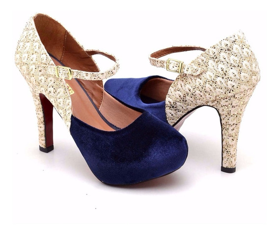 Sandalia Sapato Bota Feminina Salto Alto 11 Cm C/ Ziper Luxo