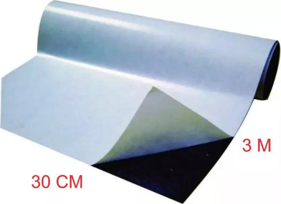 Rolo 3 Metros Manta Imã Magnética Adesivada 0,3mm + Qualidad
