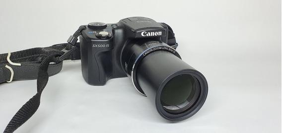 Câmera Semi Profissional Canon Sx500 Is 30x Zoom Igual Nova