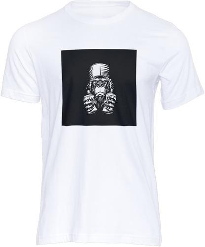 Imagem 1 de 1 de Camiseta  Monkey Fashion Design Moda Estilo Look Tshirt
