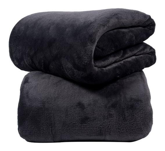 Manta Cobertor Bebe Microfibra 90 X 110 Cm Preto