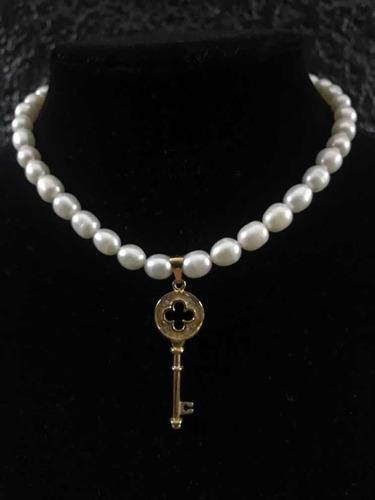 Imagen 1 de 9 de Collar De Perla Cultivada 100% Original.