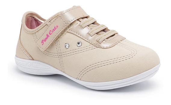 Sapatenis Infantil Feminino - Pink Cats V0592