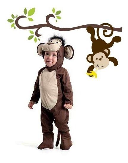 Fantasia Macaco Com Macacão+capuz Infantil Original.