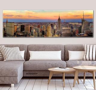 Poster Panorâmico Foto Gigante 60x200cm Decoração New York