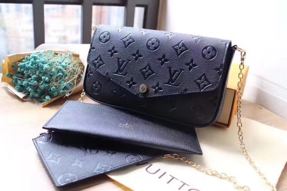 Cartera Louis Vuitton Pochette Félicie Noir