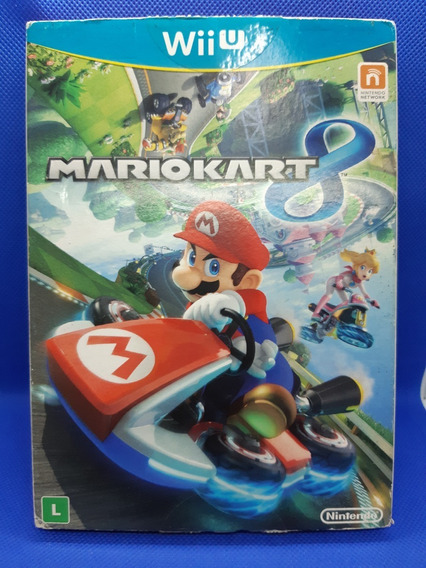 Mario Kart 8 Nintendo Wii U Com Luva Original Midia Fisica
