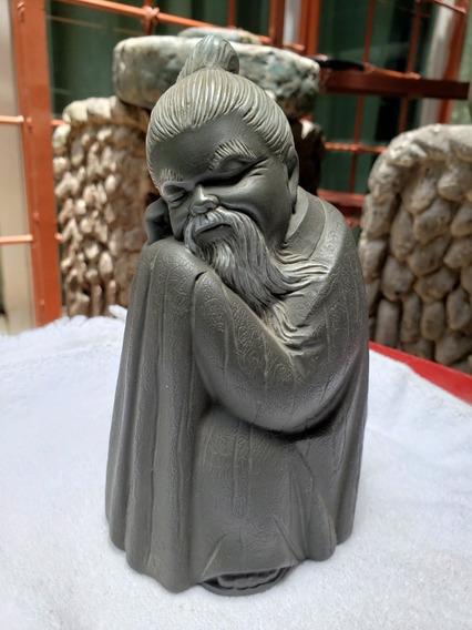 Porcelana Lladro Figura De Monje Chino