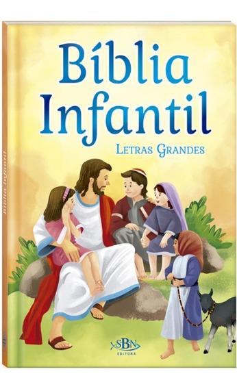 Bíblia Infantil (letras Grandes) Ilustrada + Brinde