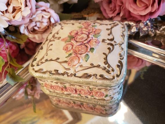 Caixa Porta Jóias Em Porcelana Weiss