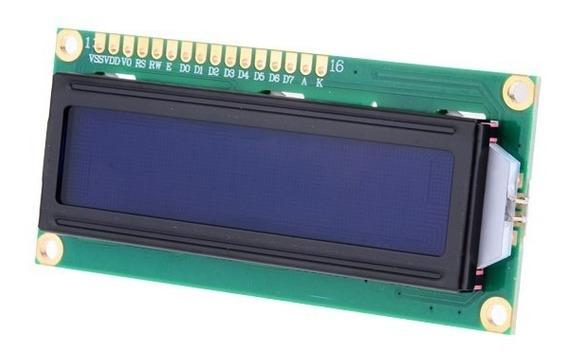 Display Lcd 1602 Azul Alfanumérico 16x2 Hd44780 Arduino Pic