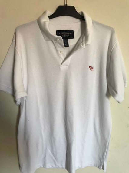 Playera Polo Abercrombie & Fitch Talla Xl Color Blanca