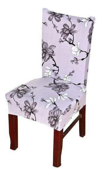 Capa Para Cadeira Kit Com 4 Uni Spanex Sala De Jantar Estar