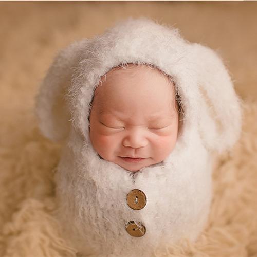 1 Saco + 2 Wrap +  Touca  Newborn Fotografia