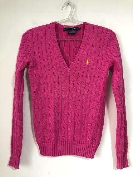 Sweater De Mujer Ralph Lauren 100% Algodon Talle S