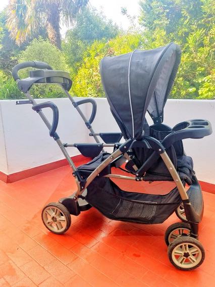 Cochecito De Paseo Bebé/niño Graco Room For 2 Nenes. Impecab
