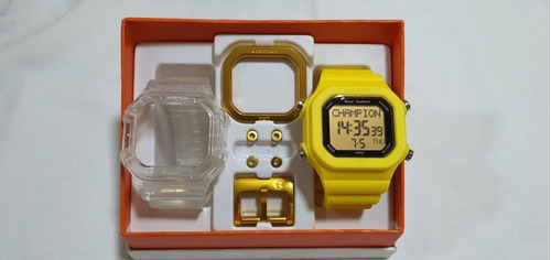 Relógio Champion Yot Fd Azul Cp40180x Original Kit Promoção