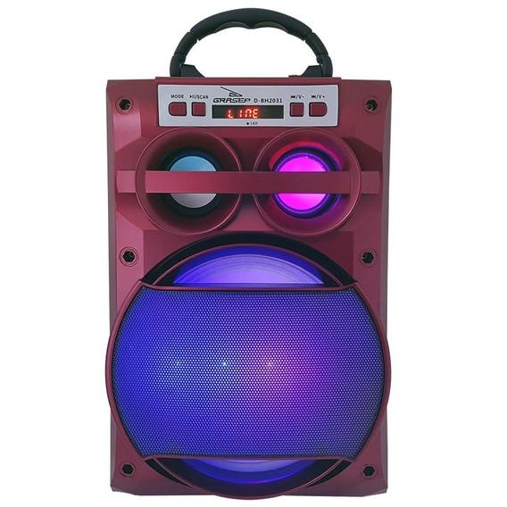 Caixa De Som Amplificada Portátil Mp3 Usb Cartão Sd Radio Fm