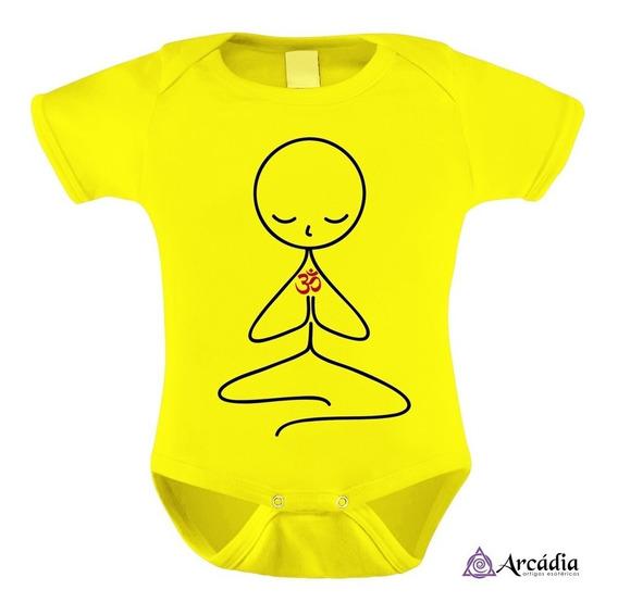 Body Bebê Algodão - Meditação