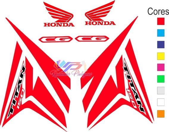 Faixas Adesivos Cg Titan 150 2014 2015 Cores Personalizadas