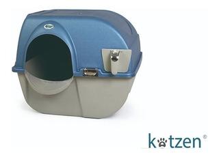Caja De Arena Plastico Con Tapa Gato Semi Automatico Omega