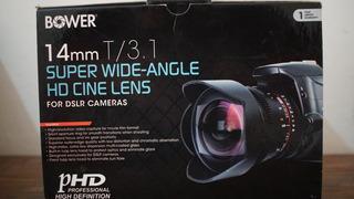 Lente Bower 14mm F3.1 Para Video Montura Samsung Nx