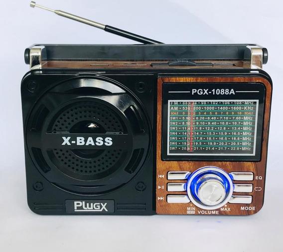 3 Rádio Reprodutor De Som Plugx Pgx-1088a Atacado