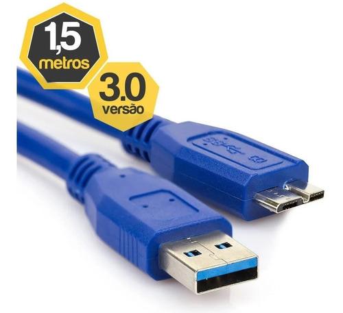 Cabo Dados Usb 3.0 P/ Samsung Galaxy Note 3 S5 N9000 G900 Hd