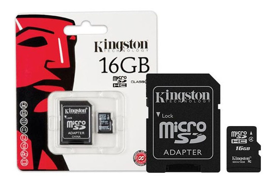 Memoria Micro Sd Kingston 16gb Clase 10 + Adaptador 100%