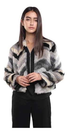 Abrigo Corto Mujer De Fur En Varios Tonos Botones Finos Lob