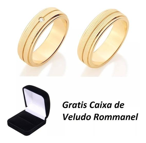 Par Alianças Rommanel Filetes Zircônia 511990 511991