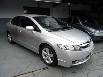New Civic Lxs 1.8 Flex Aut Ano 2008 Prata