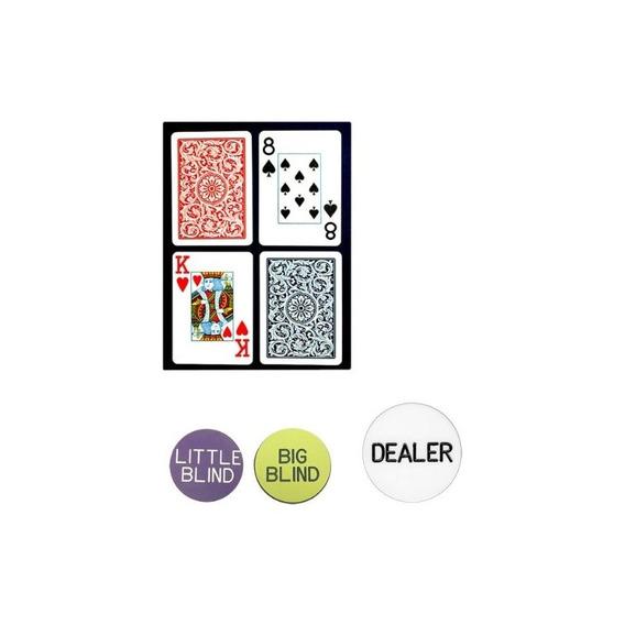 Trademark Poker Copagt Bridge Size Naipes De Plástico Y Jueg
