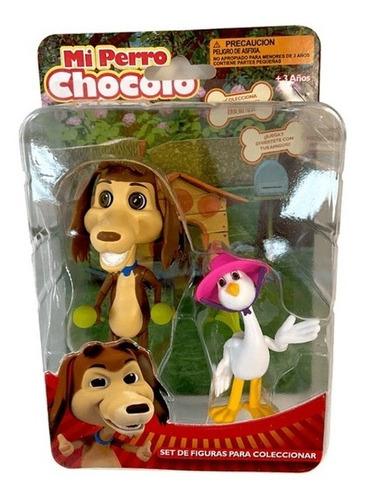 Imagen 1 de 1 de Mi Perro Chocolo Set 2 Figuras Chocolo Y Josefina