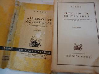 Articulos De Costumbres- Mariano Jose De Larra Antol.azorin