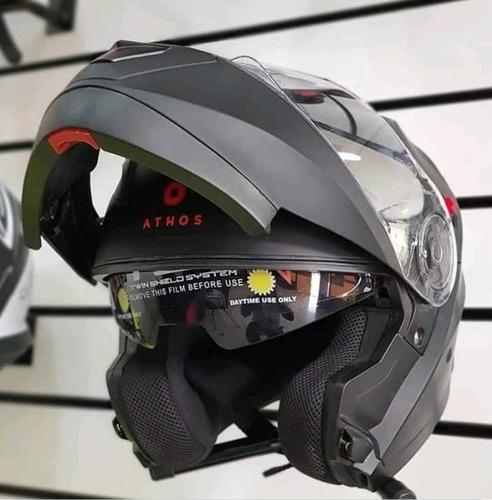 Imagen 1 de 4 de Casco Athos Helmets Honor Modular Negro Matte