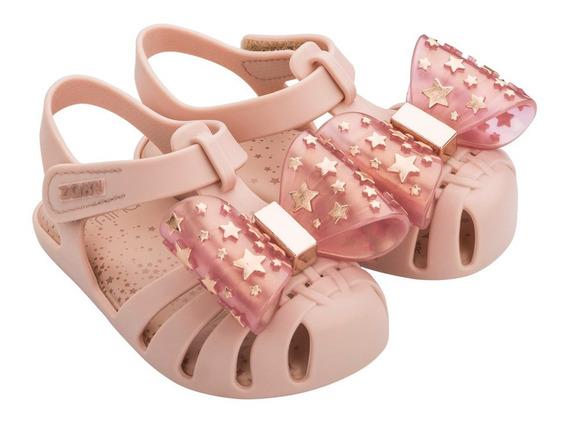 Sandália Infantil Zaxynina Fantasia Pink Nude Nº 17 Ao 27