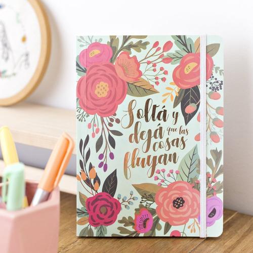 Cuaderno Rayado 64 Hojas Estampado Flores
