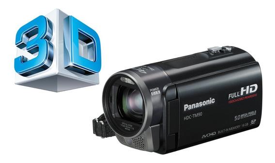 Filmadora Panasonic Hdc-tm90 Full Hd E 3d. Completa Na Cx.